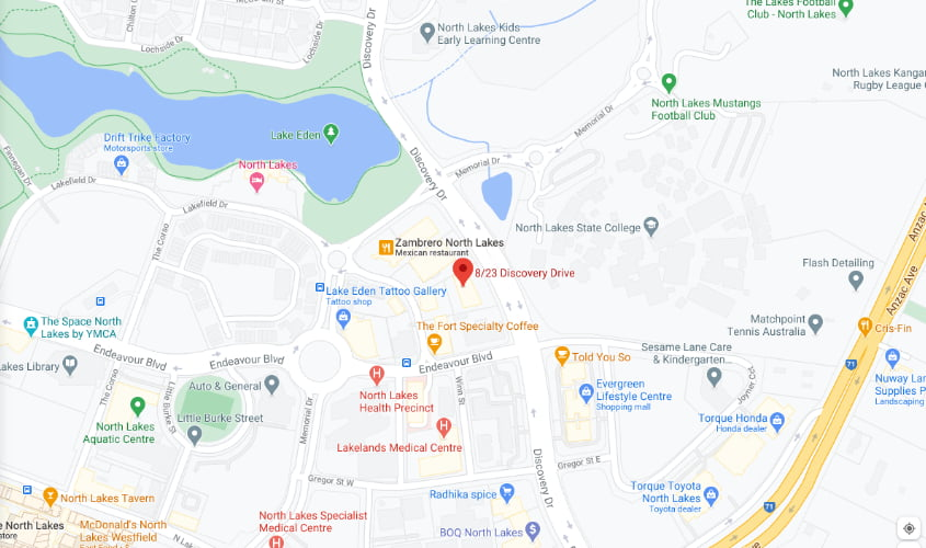 Kids Dig Food location map for North Lakes clinic